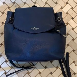 Kate Spade Small Breezy Backpack in Navy(offshore)